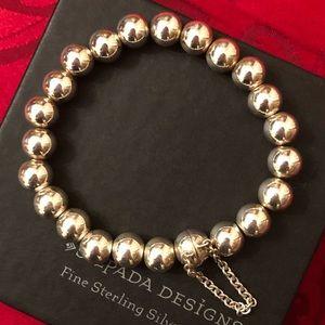 B2899 Silpada Silver Ball Bracelet W/Magnet Clasp